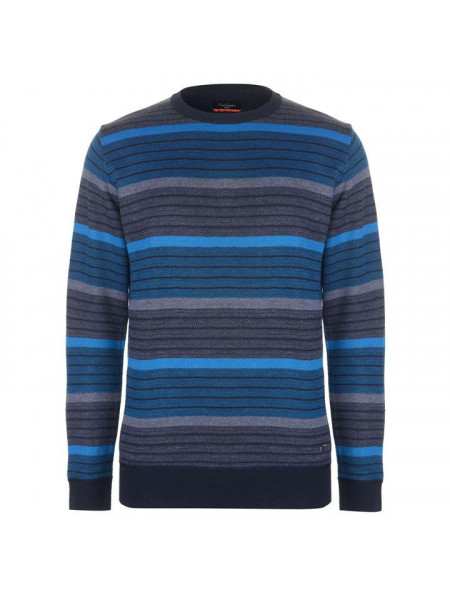 Pánsky pulóver Pierre Cardin Striped Crew Knit Mens