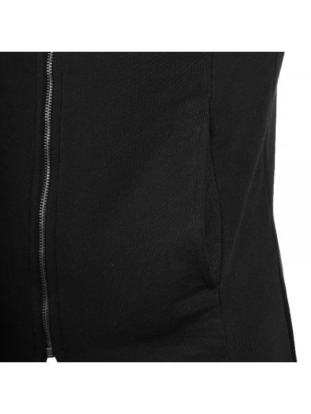 Pánska mikina D & A Lifestyle Basic Long Zip Hoody black