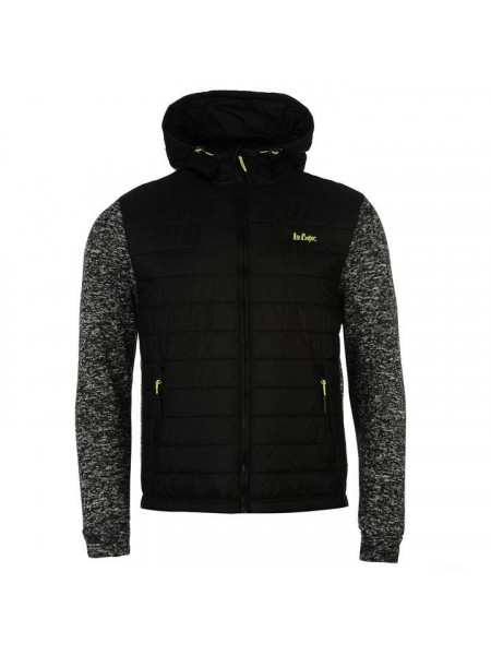 Pánska prechodná bunda Lee Cooper Padded Knit Hooded Jacket Mens