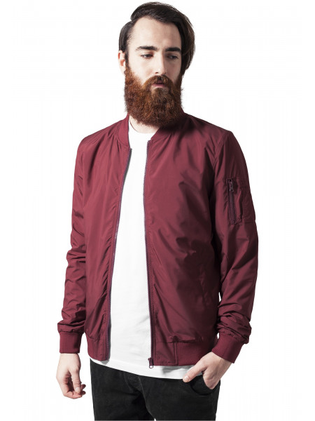 Pánska prechodná bombera Urban Classics Light Men Bomber Jacket red ... df8b961647a