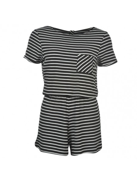 Dámsky overal SoulCal Stripe Playsuit Ladies