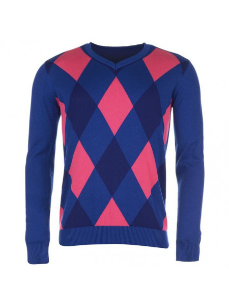 Dámsky pulóver Slazenger Argyle V Neck Sweater Ladies