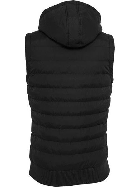 Pánska vesta Urban Classics Small Bubble Hooded Men Vest Black Black