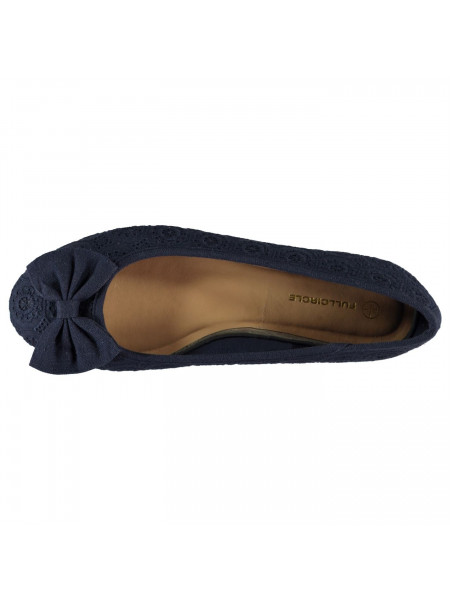 Full Circle - Ladies Bow Slip On Shoes
