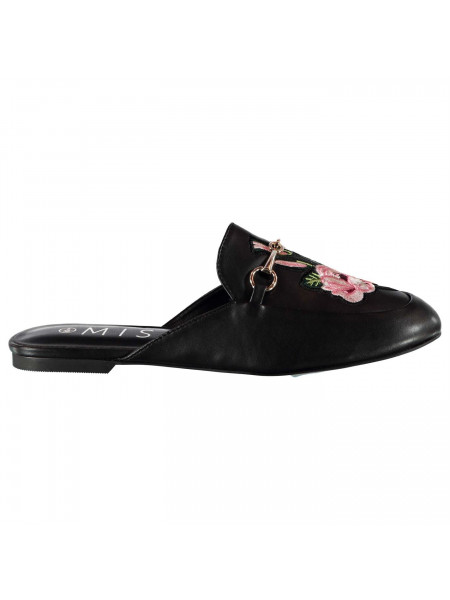Miso - Embroidered City Ladies Mule Shoes