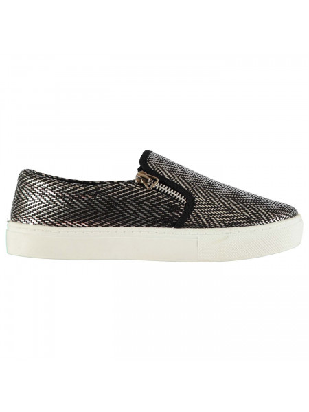 Rock and Rags - Slip On Trainers Ladies