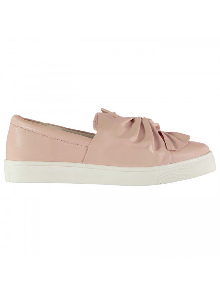 Rock and Rags - Slip on Bow Ladies Trainers