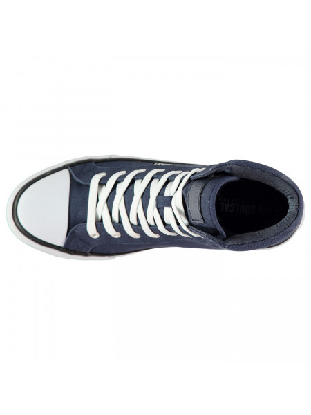 SoulCal - Asti Canvas Mens Hi Top Trainers