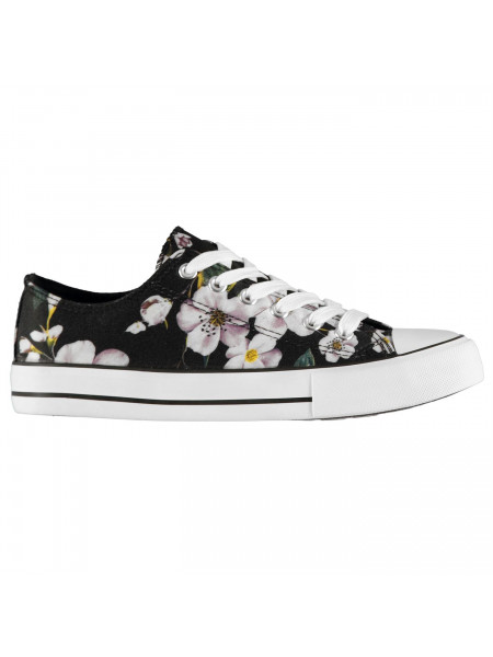 Rock and Rags - Floral Ladies Canvas Shoes