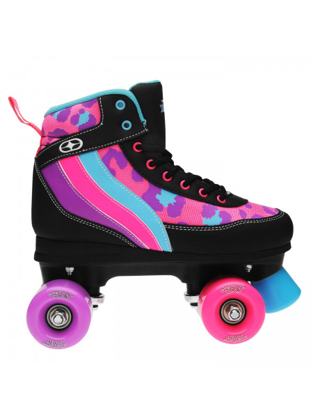 No Fear - Retro Quad Girls Roller Skates