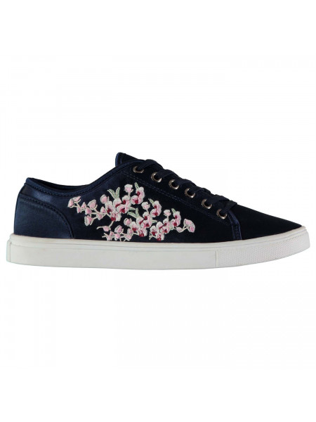 Fabric - Embroidered Lace Ladies Trainers