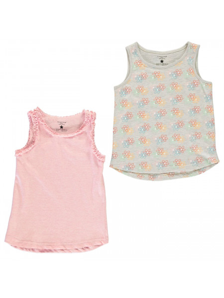 Crafted - 2 Piece Jersey Vests Infant Girls