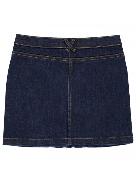 Crafted Essentials - Embroidered Denim Skirt Girls Junior
