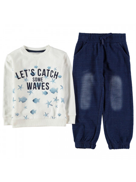 Crafted - Two Piece Crew Sweater Set Infant Boys